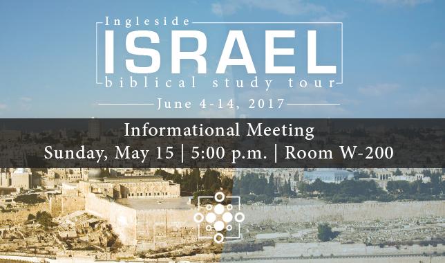 Israel Tour info meeting II