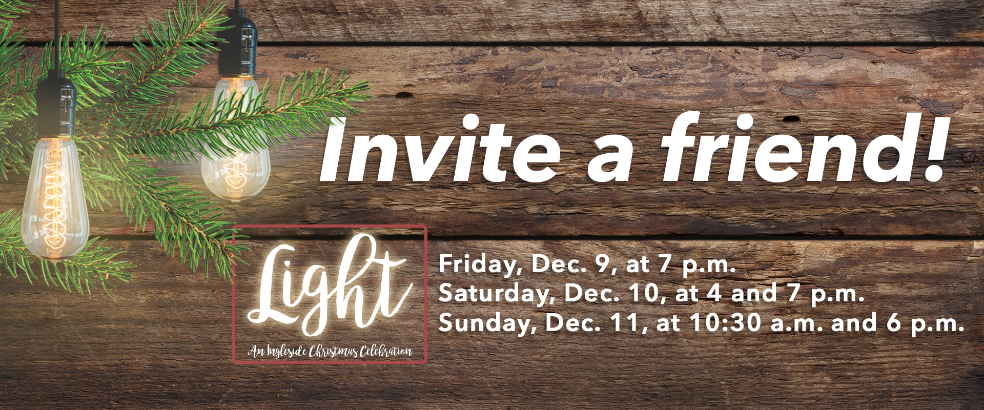Invite a Friend to Celebrate Christmas | Pastor's Blog